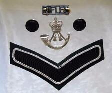British Army The Rifles Cap Badge/Buttons L/Cpl Rank Badge & Shoulder Title