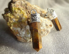 Tiger eye Pencil Pendant Natural  Energize Stone