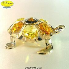 TARTARUGA DI MARE 24K GOLD PLATED CRYSTOCRAFT SWAROVSKI ELEMENTS