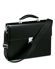 $2295 MONTBLANC MEISTERSTUCK LEATHER WORK TRAVEL BRIEFCASE SINGLE Gusset BAG
