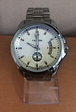 TEVISE Male Auto Mechanical Watch Date Chronograph Display Stainless Steel Band
