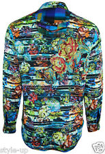 Robert Graham LIMITED EDITION Floral Silk Emboidered Mens L Large Shirt NEW $498