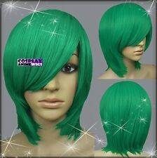 40cm Light Green Heat Styleable Long Bang Layer Base Cosplay Wig 65_GGE