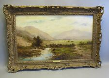 Large Alfred Augustus Glendening  Original English Oil Painting c. 1879  antique