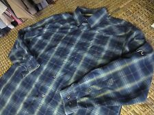 MAGELLAN outdoors BLUE plaid vented Mag Cool dry fit Western SHIRT Mens Medium M