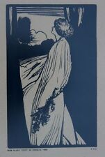 Antique Framed Woodblock Print Miss Ellen Terry as Ophelia 1898 Listed E G Craig
