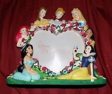PRINCESS Photo Frame DISNEY RARE 3D RESIN HTF PICTURE STORE WALT BELLE ARIEL +