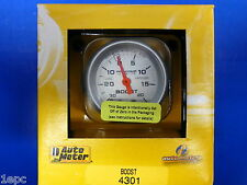 Auto Meter 4301 Ultra-Lite Vacuum Boost Mechanical Gauge 2 1/16 30 In.Hg/ 20 PSI