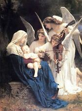 William Bouguereau Adolfo SONG OF ANGELS vecchia Arte Dipinto Manifesto 3139omlv