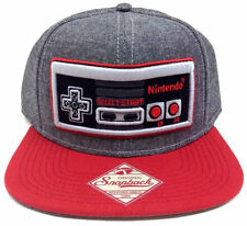 GREY NINTENDO NES CONTROLLER SNAPBACK HAT CAP NEW SUPER MARIO BROS ERA WORLD