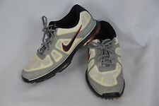 Nike Mens 7 Black White Silver Athletic Sports Cleats Lace Up Shoes