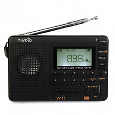 Neu Tragbare Radios FM/AM/SW World Band Empfänger Radio MP3 Player REC Recorder
