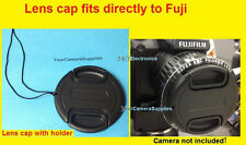 LENS CAP  DIRECTLY to CAMERA FUJI S9400W S9450W S9400 S9450 W FINEPIX+HOLDER