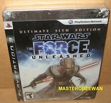 PS3 Star Wars: The Force Unleashed Ultimate Sith Edition New Sealed