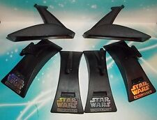 star wars action fleet 6 pc standard display base stand lot -with holo foil logo
