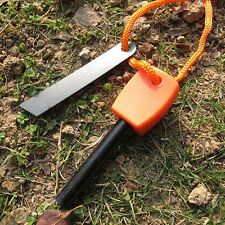Outdoor Camping Hunting Magnesium Flint And Steel Striker Survival Fire Stick