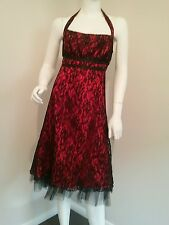 Burlesque Moulin Rouge Vamp Goth red black lace dress size 3xl 18 20 plus size