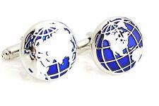 Bolsa De Regalo + mapa del mundo azul de Calidad Gemelos Color Plata Gemelos de las Naciones Unidas lugar