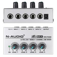 MX400 Ultra-compact Low Noise 4 Channels Line Mono Audio Mixer EU H3X4
