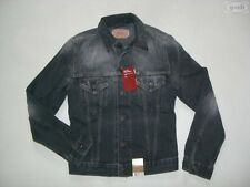Levi's® Biker Jacke Jeansjacke Gr. M (S), Schwarz ! Faded wash Black Denim RAR !