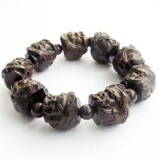 Wood Lucky Guan Gong Guangong Tibet Buddhist Prayer Beads Mala Bracelet