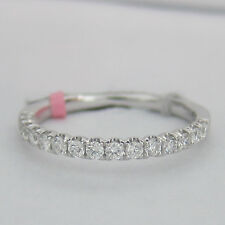 0.40ctw F-G SI1 15 Stones Round Cut Diamond Band In 18KT White Gold