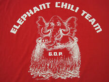 GRAND OLD PARTY! 80s vtg ELEPHANT chili team GOP government T SHIRT 50/50 large