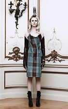 VIVIENNE WESTWOOD GOLD LABEL SILK-TAFFETA PLAID BUSTIER DRESS! ABSOLUTELY HIP!