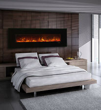 Modern Flames AL80CLX-G Wall Mount/Built-in Electric Fireplace with Black Glass