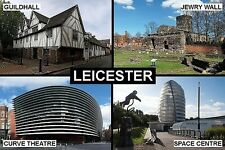 SOUVENIR FRIDGE MAGNET of LEICESTER ENGLAND