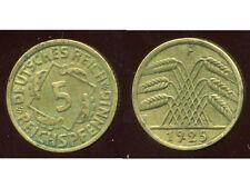 ALLEMAGNE 5  reichspfennig  1925 F