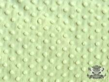 "Minky Dimple Dot SAGE Fabric / 60"" wide / Sold By the Yard"
