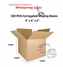 100 6x6x6 Cardboard Packing Mailing Moving Shipping Boxes Corrugated Cartons