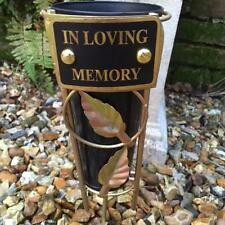 New BLACK & ROSE GOLD GRAVE VASE SPIKE Memorial IN LOVING MEMORY Graveside