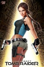 "Art Design Girl-Lara Croft Tomb Raider Fabric poster 36"" x 24"" Decor 17"