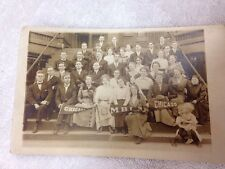 Vintage Class Photo Postcard of Chicago M.B.I., Moody Bible Institute, 1940's