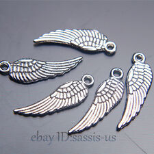 200pcs 17mm Charms Angel Wing pendant DIY Jewelry Making Bail Tibet Silver A7025