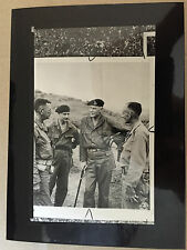 ww2 photo press British liaison officer chats with U.S. officers on Luzon   A43