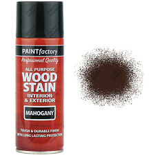3 x 400ml All Purpose Mahogany Varnish Gloss Spray Paint Red/Brown Wood Stain