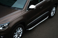 TO FIT VW VOLKSWAGEN TIGUAN 2007+: ALUMINIUM RUNNING BOARDS SIDE STEPS SIDE BARS