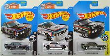 "2016 2017 Hot Wheels: '73 BMW 3.0 CSL Race Car ""White & Black"" - LOT of 3 - NEW"