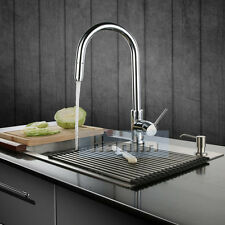 Kitchen Sink Mixer Tap Faucet with Pull Out Sprayer High Quality Chrome Brass