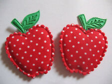 50 PCS Padded Dots Apple Appliques-Red FT021