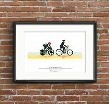 Sir Chris Hoy, keirin, London 2012 OLIMPIADI ARTE POSTER FORMATO A3