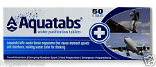 AQUATABS Water Purification Tablets 50 Pack NATO British Army, US Special Forces