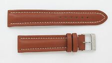AUTHENTIC Breitling 20mm Brown Leather Strap w/ White Stitching Model 100X