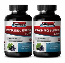 Resveratrol 1000 - Resveratrol Supreme 1200mg SS-  Anti-Aging  Supplements 2B