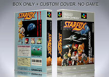 STARFOX. JAPAN FORMAT. Box/Case. Super Nintendo. BOX + COVER. (NO GAME).