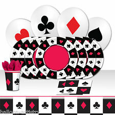 Casino Bets Playing Cards Night Birthday Complete Party Balloon Kit Pack For 16