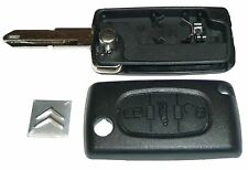 CITROEN BERLINGO KEY CASE SHELL FOB REMOTE W/ BLADE 3 BUTTONS NEW